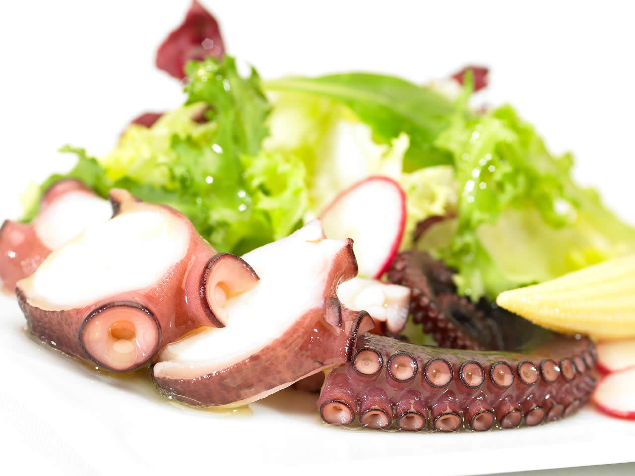 Warm octupus salad Gilmar
